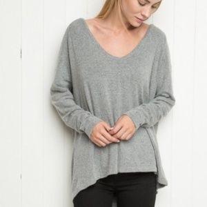Brandy Melville Cozy Oversized V Neck Sweater